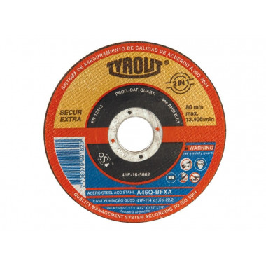 DISCO PLANO 114X1.6 MM TYROLIT