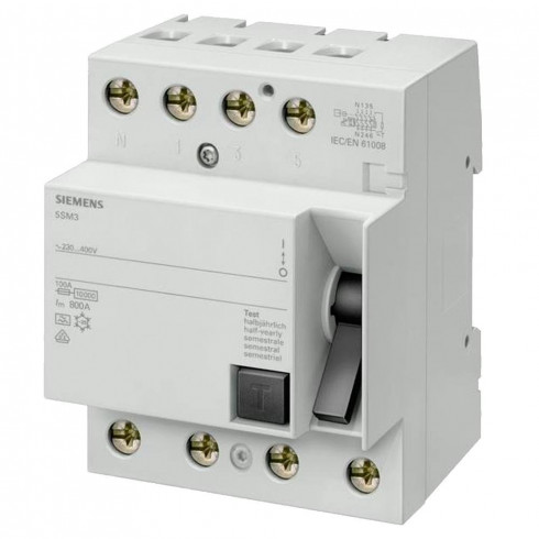 INT. DIFERENCIAL 4 POLOS 300MA TIPO AC SIEMENS