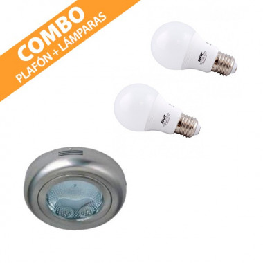 COMBO PLAFÓN + LÁMPARAS LED