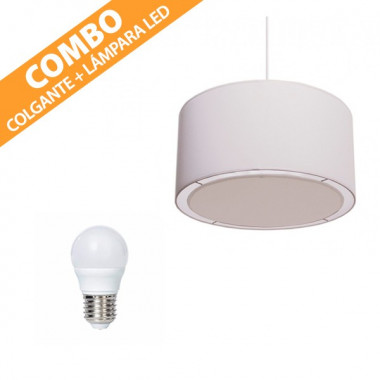 COMBO COLGANTE + LÁMPARA LED PHILIPS
