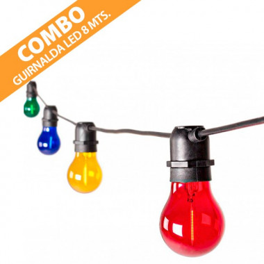COMBO GUIRNALDA LED COLORES