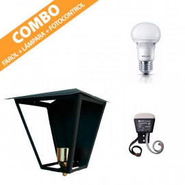 COMBO FAROL CRIFER + LÁMPARA LED PHILIPS + FOTOCONTROL ANTHAY