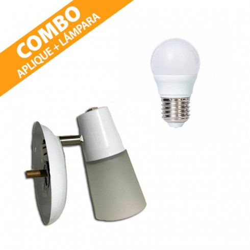 COMBO APLIQUE SAN JUSTO + LÁMPARA LED