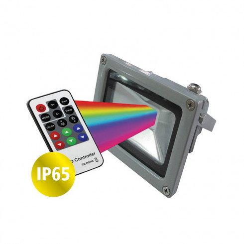 PROYECTOR LED RGB C/CONTROL REMOTO