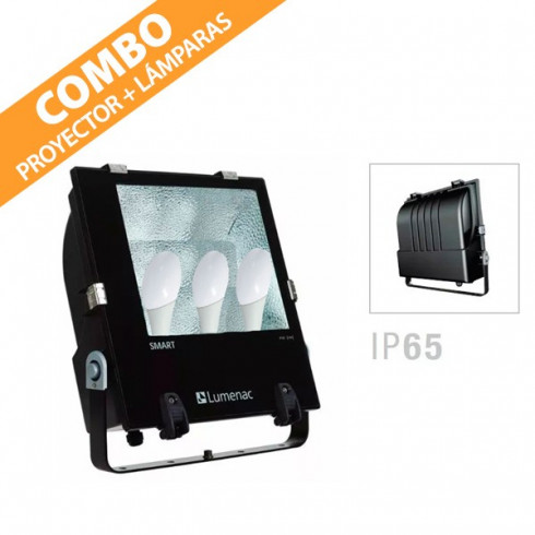 COMBO PROYECTOR SMART + LÁMPARAS LED 12W LUMENAC