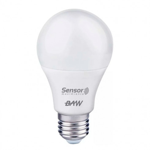 LÁMPARA LED A60 C/SENSOR MOVIMIENTO BAW
