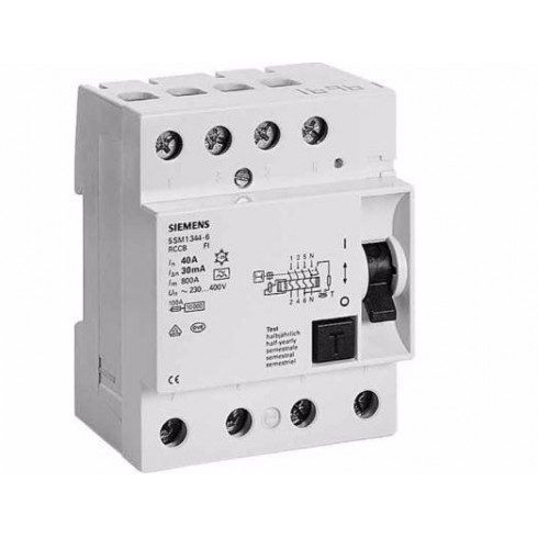 INTERRUPTOR DIFERENCIAL 4X40A In 30MA TIPO A
