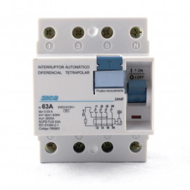 INTERRUPTOR DIFERENCIAL 4 POLOS 63A 300MA DIN