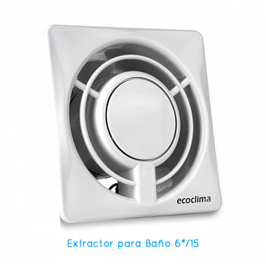 "B150/6 BAÑO 6"" COLOR BLANCO ECOCLIMA"