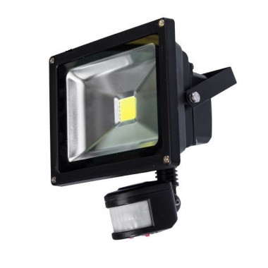 PROYECTOR LED 30W C/SENSOR EXTERIOR IP67 SILVER LIGHT