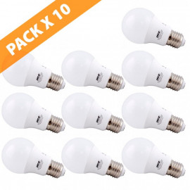 PACK X 10 LÁMPARAS LED CLÁSICA E27 SICA