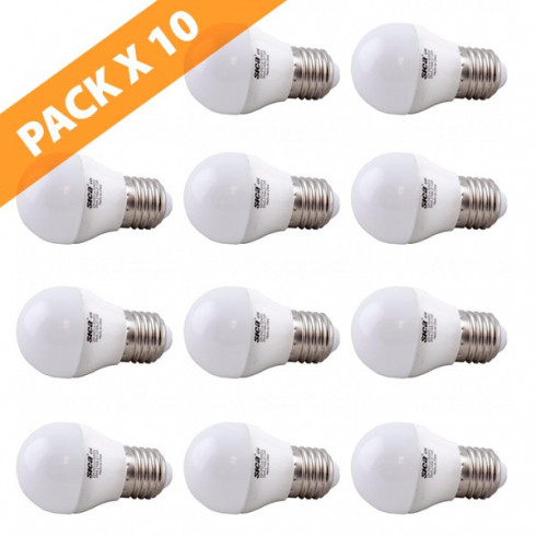 PACK 10 LAMPARAS LED GOTA 4W E27 SICA
