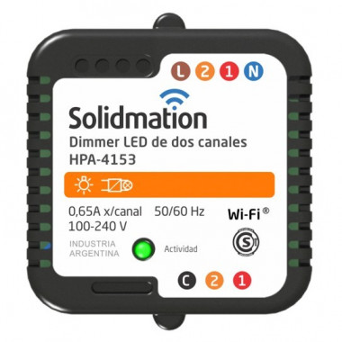 DIMMER LED WIFI DE 2 CANALES 4153 SOLIDMATION