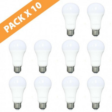 PACK X 10 LÁMPARAS LED 6W E27 220V LUMENAC